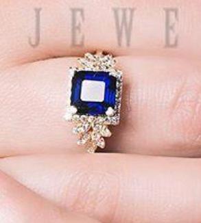Blue Brillian Ring-MainImage