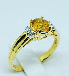 Yellow Sapphire Ring-MainImage