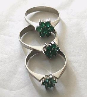 Emerald Flower Ring-MainImage
