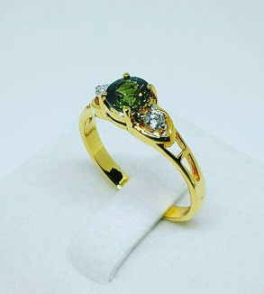 Green Sapphire Ring-BackImage
