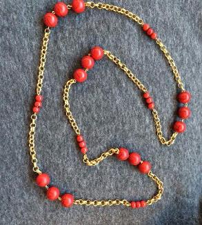 گردنبند سنگ قرمز-mainImage