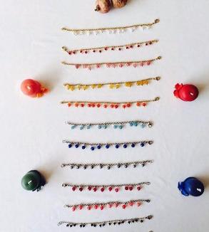 دستبند سنگ و استیل رنگ ثابت-MainImage