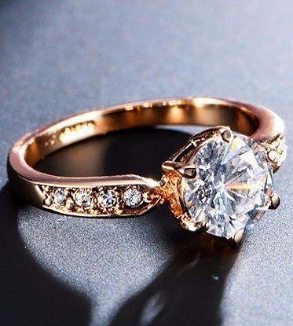 Rose Gold Engagement Ring-backImage