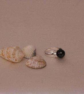 Black pearl ring-MainImage