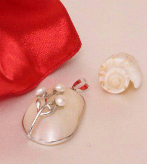 Pearl Pendant Design Flower Branch-MainImage