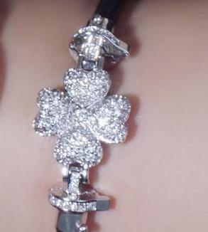 دستبند طلا سفید چهار قلب-MainImage
