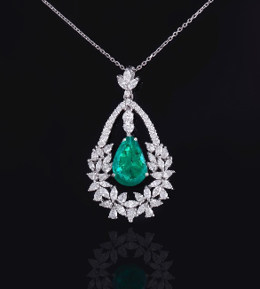Emerald and Brilliant Pendant-MainImage