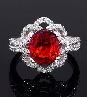 Engagement ring of Brilliant and Ruby-MainImage
