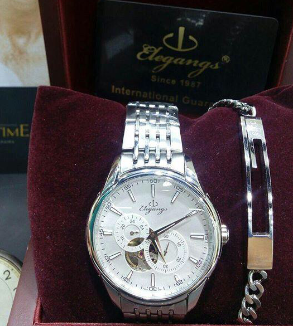 Elegange stainless steel automatic watch-MainImage