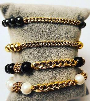 دستبند سنگ و طلاى كارتيه-MainImage