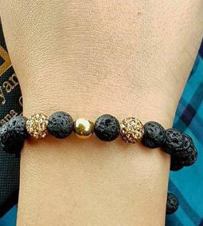 دستبند سنگ و گوی طلا-MainImage