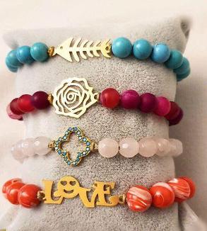 Gold & Stone Bracelets-MainImage
