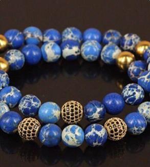 Gold & Stone Bracelet-MainImage