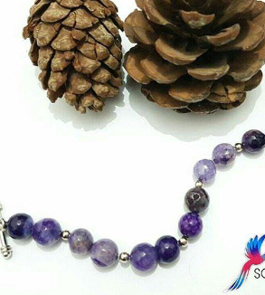 Indonesian Purple Opal Stone Bracelet-MainImage