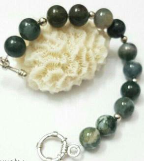 Indonesian Green Opal Stone Bracelet-MainImage