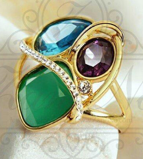 انگشتر رنگارنگ