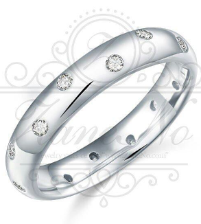Silver ring with zirconia jeweled-MainImage