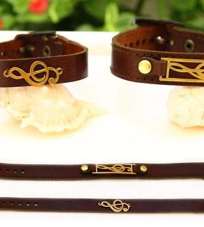 Brown natural leather bracelet-MainImage