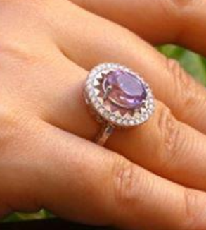 Silver ring with amethyst stone-MainImage