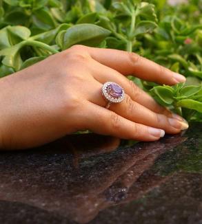 انگشتر نقره با سنگ آمیتیست-Image2