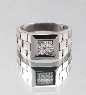 Men's Jewelry Platinum Ring-BackImage